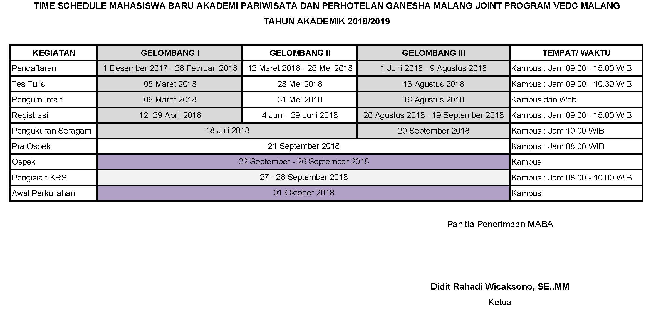 Time Schedule MABA 2018 2019 (1)